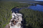 Photo: White Bear River Falls Aerial Labrador