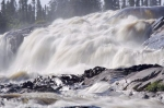 A spectacular sight in the wilderness of Southern Labrador is the White Bear River Falls rushing over the rock ledges.