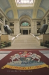 The interior of the Legislative Building in Winnipeg, Manitoba is a display of amazing architectural beauty.