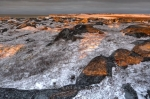 Photo: Winter Sunset Hudson Bay Manitoba
