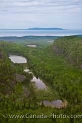 Aerial Of Canyon Near Thunder Bay
