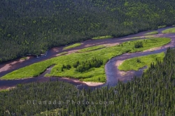 Aerial River Picture Southern Labrador Canada