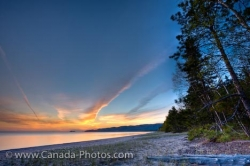 Agawa Bay Lake Superior Sunset