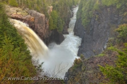 Aguasabon Falls Spring Flood Terrace Bay Ontario