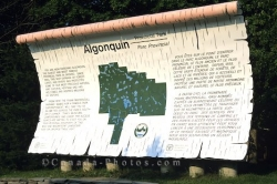 Algonquin Ontario Interpretive Sign