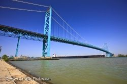 Ambassador Bridge Windsor Ontario Detroit Michigan