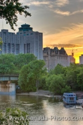 Assiniboine River Sunset Winnipeg Manitoba