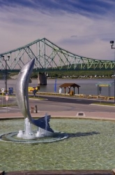 Atlantic Salmon Waterfront Statue Campbellton New Brunswick