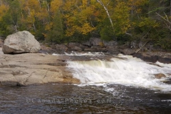 Autumn Sand River Waterfall Ontario Canada