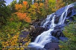 Scenic Autumn Waterfall Quebec