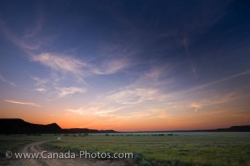 Badlands Sunset Farming Landscape Southern Saskatchewan