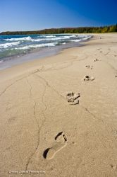 Beach Footprints Pancake Bay Lake Superior Ontario