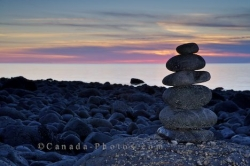 Beach Sunset Rock Formation Delaps Cove Nova Scotia