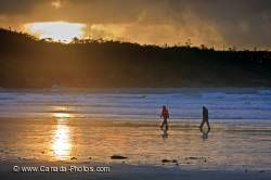 Romantic Beach Walk Storm Sunset Tofino