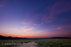 Big Muddy Badlands Farmland Sunset Southern Saskatchewan