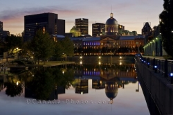Bonsecours Market Downtown Buildings Dusk Reflections Montreal