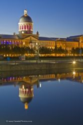 Bonsecours Market Dusk Reflections Old Montreal Quebec