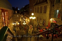 Breakneck Stairs Restaurant Quartier Petit Champlain Quebec City