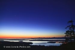 Night Sky Broughton Strait Northern Vancouver Island