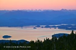Broughton Archipelago Sunset Northern Vancouver Island