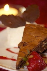 Brownie Almond Torte Dessert