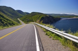 Road Picture Cabot Trail Near Grande Falaise