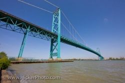 Canadian American Ambassador Bridge Windsor Michigan