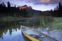 Canoeing Golden British Columbia