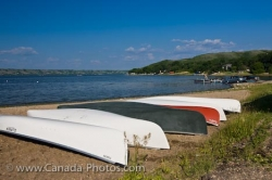 Canoes Echo Lake Beach Saskatchewan