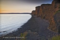 Cape D Or Coastline Sunset Nova Scotia Canada