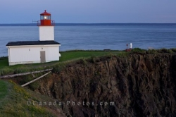Cape D Or Lighthouse Scenery Minas Channel Nova Scotia