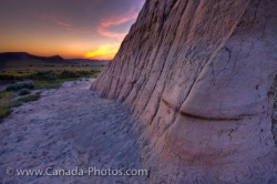 Castle Butte Sunset Big Muddy Badlands Saskatchewan