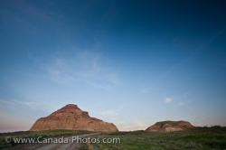 Castle Butte Sunset Tourist Attraction Big Muddy Badlands Saskatchewan