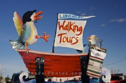 Walking Tours Sign Lunenburg Town Nova Scotia