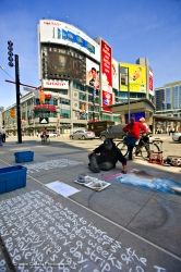 Chalk artist Draws Pavement City Toronto