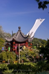 Chinese Garden Pavilion Montreal Tower Quebec Canada