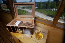 Cigars Brandy Rifflin Hitch Lodge Labrador