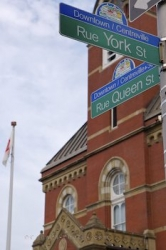 City Hall Street Signs Fredericton New Brunswick