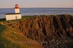 Coastal Scenery Cape D Or Lighthouse Sunset Nova Scotia