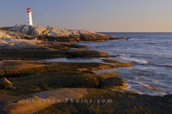 Coastal Sunset Peggys Cove Lighthouse Nova Scotia