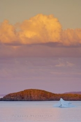 Coastal Iceberg Sunset Photo Newfoundland Labrador