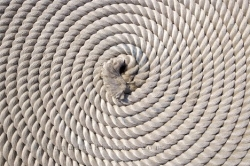 Coiled Navy Boat Rope St Johns Harbour Avalon Peninsula