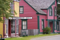 Colorful Historic Buildings Main Road Sherbrooke Village