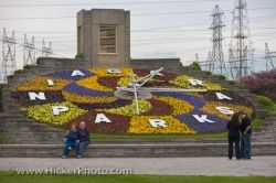 Colorful Spring Floral Clock Niagara Parks Queenston Ontario