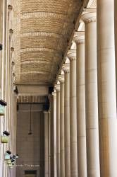 Columns at entrance to Union Station in downtown Toronto Ontario Canada