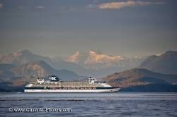Scenic Inside Passage Cruise Liner BC Coast Mountains