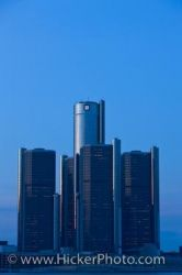 Detroit Michigan GM Building Skyline Picture