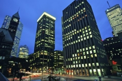 Downtown Toronto Night Buildings