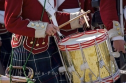 Historic Rifle And Bayonet Drummer Marching