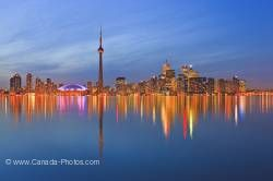 Toronto City Skyline Dusk Reflections